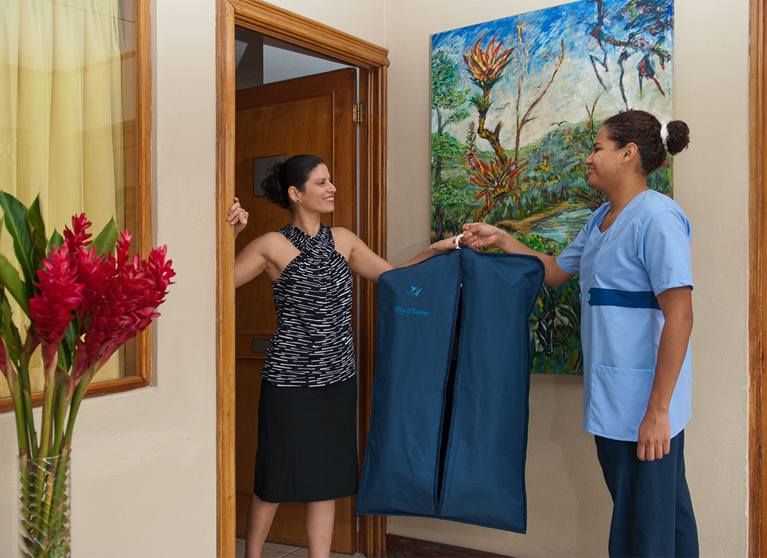 Laundry delivered at your room