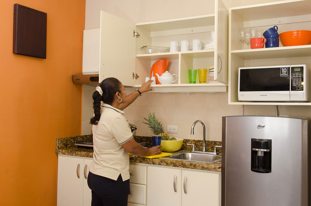Daily cleaning service will make your stay at Hotel y apartaments La Sabana a joyful one.