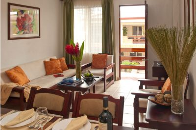 Our Apartment D offers a comfortable livingroom space as well as dinningroom in an open concept.