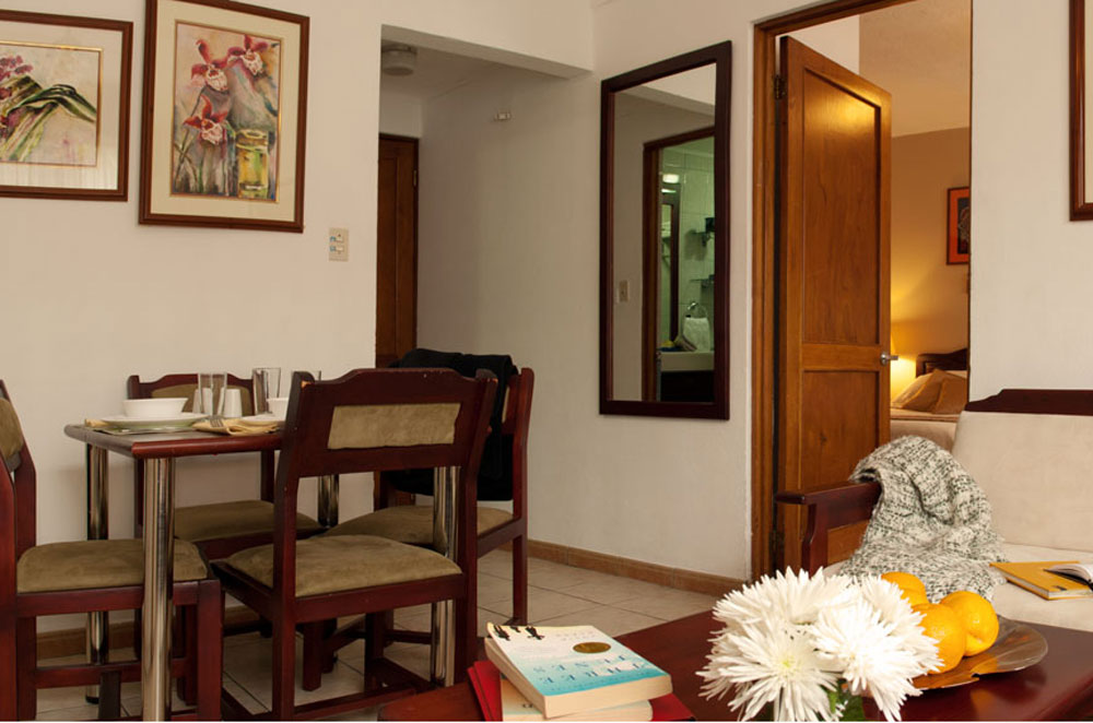 Livingroom area in our small apartments will make you feel at home.