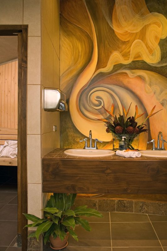 Sauna bathroom at Hotel y apartaments La Sabana
